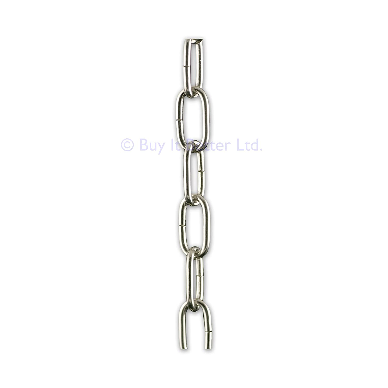 2m Chrome Open Link Chain - For Chandelier & Lighting - Small - 20X10MM - Ch-1A Buy It Better