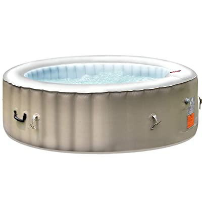 GYMAX Outdoor Spa, 6 Person Inflatable Portable Hot Tub