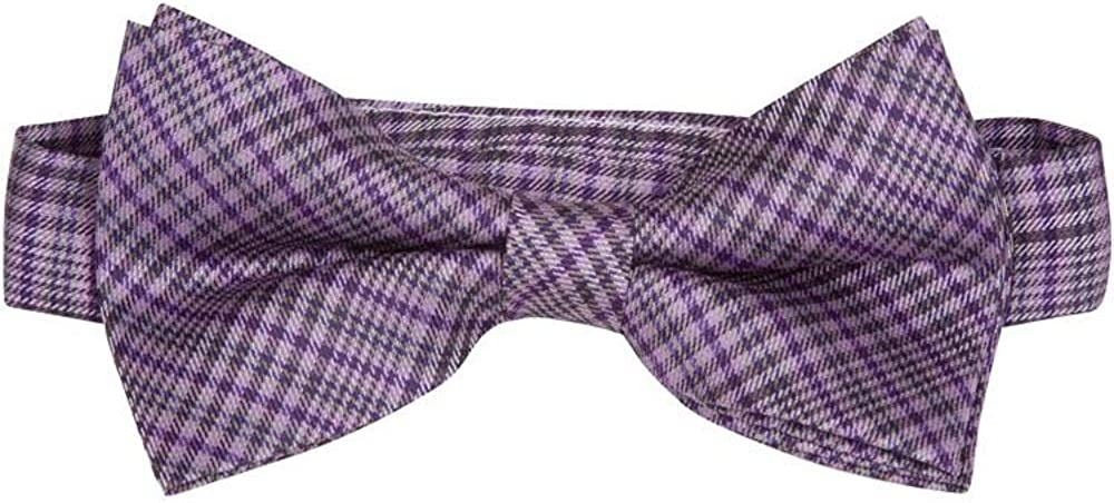 The Matching Tie Guy Men//Boys Microfiber Purple Plaid Bowtie Available in All Sizes and Adult 59 Inch Necktie BT11