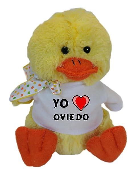 Shopzeus Pollo de Peluche (Juguete) con Amo Oviedo en la Camiseta (Ciudad /