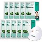 DERMAL Aloe Collagen Essence Facial Mask Sheet 23g Pack of 10 - Skin Revitalizing & Soothing, Refreshing and Moisturizing, Su