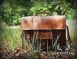 Hlc Leather 15 Inch Laptop Vintage Look Leather Messenger Briefcase Satchel Office Mens Handmade Bag