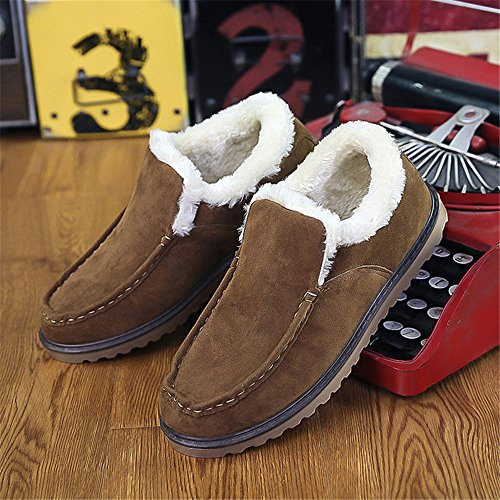 SHELAIDON Hombre DE000 N555 loafers Piel Tobillo de bajo Caqui qH1qxrwa