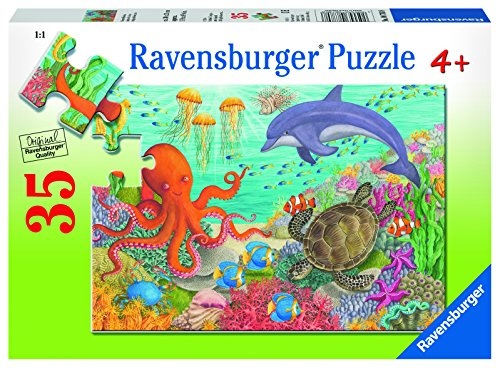 Ravensburger Ocean Friends 35 Piece Jigsaw Puzzle for Kids - Every Piece is Unique, Pieces Fit Together Perfectly
