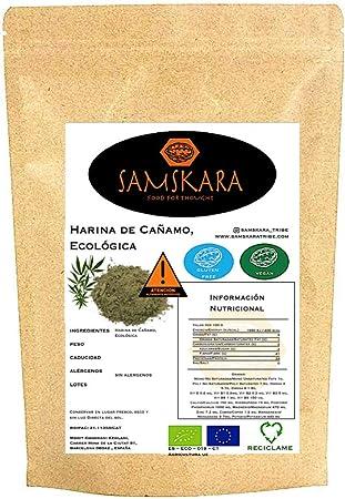 Harina de Cañamo Ecológica (alto contenido Proteico 33%) BIO SAMSKARA SUPERFOODS Organic Hemp Flour (High Protein content 33%) SIN GLUTEN, VEGANO ...