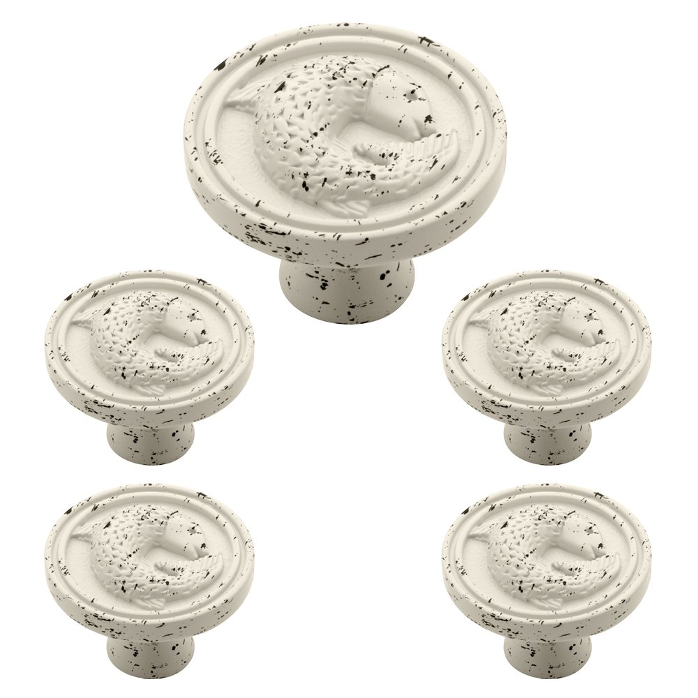 Liberty PBF662C-254-C 35mm Pisces Kitchen Cabinet Hardware Knob Seaside Cottage, Vintage Antique White - Cabinet And Furniture Knobs - Amazon.com
