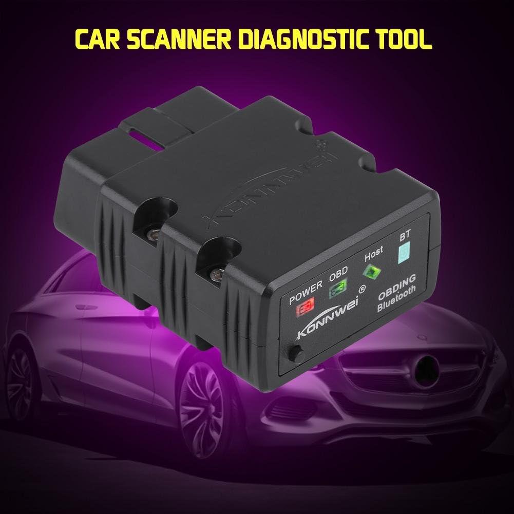 Qiilu KW902 OBDII Auto Scanner Diagnosewerkzeug Fehlererkennung Bluetooth 3.0 f/ür Android Swarchz