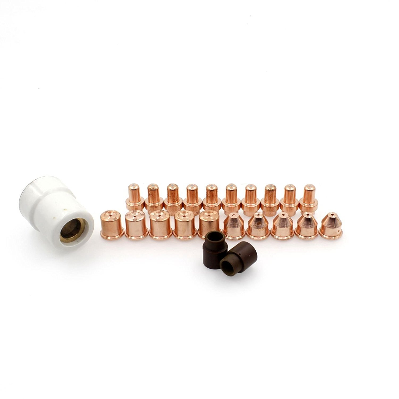 WS QTY-23 Ref 14344 Electrode & 12814 Nozzle &14557 Shield Cap fit Eastwood Versa Cut 40 Plasma Cutting Torch Lionsweld