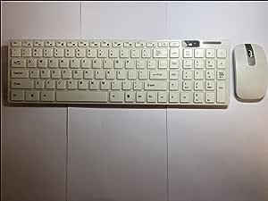 Teclado inalámbrico Blanco con Almohadilla de número y ratón ...