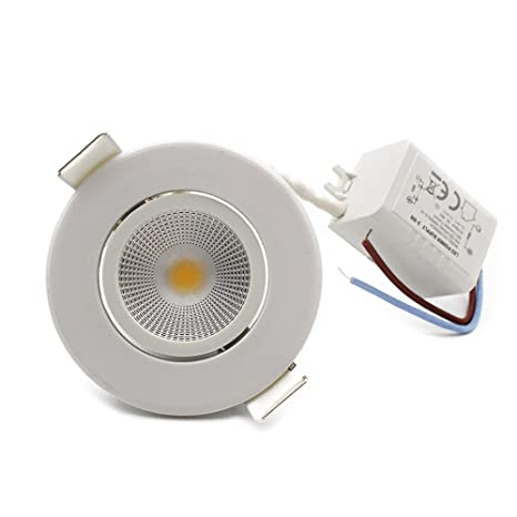 best authentic b4d18 4a03c LEDIARY 6-Pack 3W Round COB LED Recessed Ceiling Downlight ...