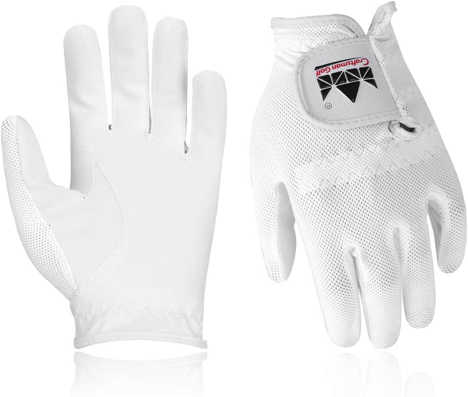 Craftsman Golf Breathable Microfiber Synthetic Golfing Glove Junior Golf Glove for Kids 1pair