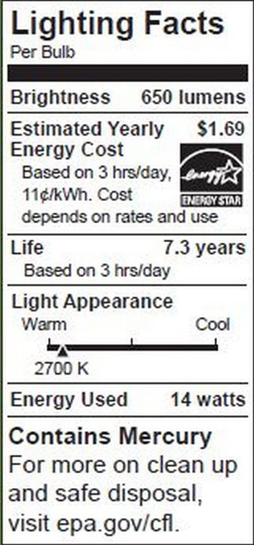 TCP 14-Watt Soft White Compact Fluorescent Flood Light Bulb 6 Pack