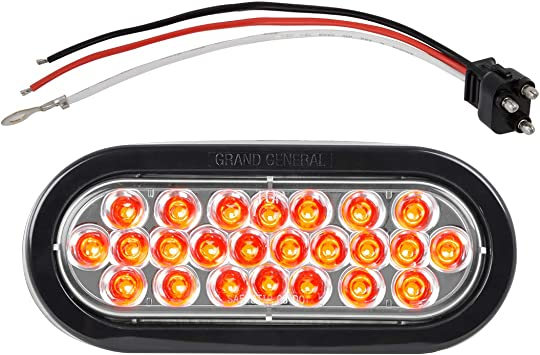 6-1//2 Pearl Red 8 with Clear Plastic Base Mount GG Grand General 74773 LED Bar