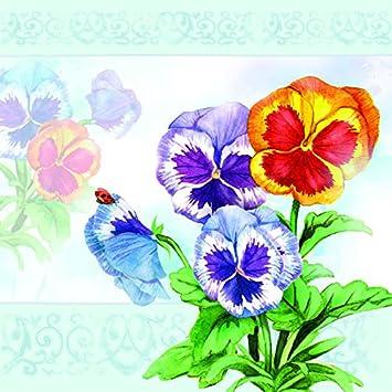 20 Servilletas Pensamientos Vintage Viola Flores Jardín Flores primavera 33 x 33 cm: Amazon.es: Salud y cuidado personal