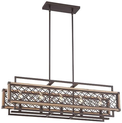rustic bronze chandelier rustic metal vickary rustic bronze and wood 36 14quotw island chandelier 14