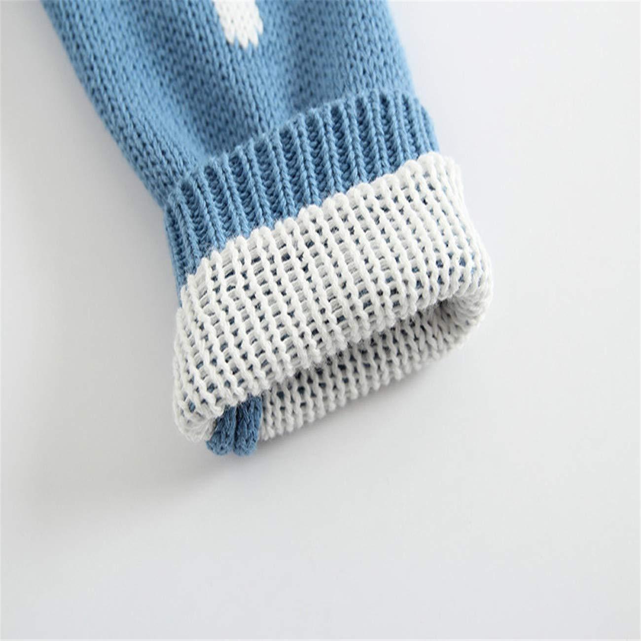 HCFKJ Ropa Bebe NiñA Invierno NiñO Manga Larga Camisetas Beb Conjuntos Moda Bebé ReciéN Nacido NiñO Chico NiñA Dot Punto Mameluco Body Ropa Crochet Trajes: ...