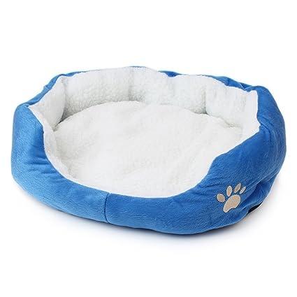 Cama de Mascotas para Gatos pequeños Perros Kennel Cat Litter Lamb Manta de Lana Winter Warm ...