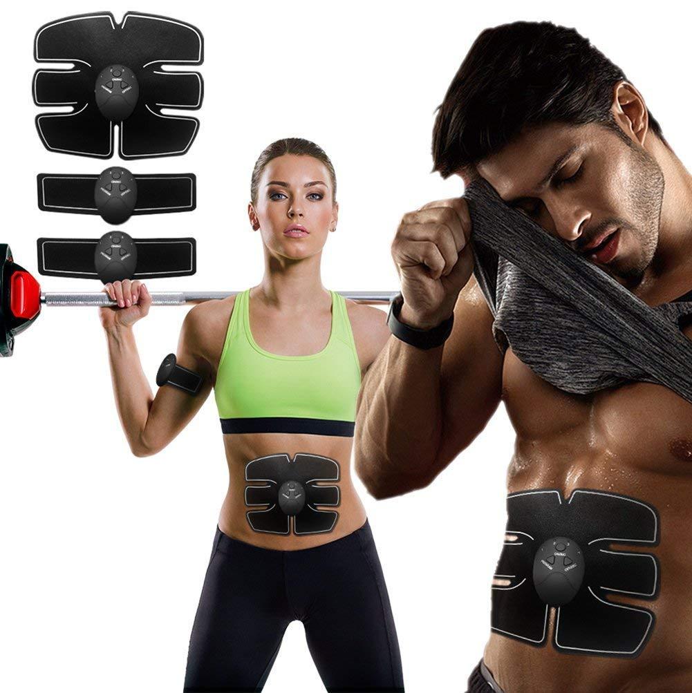 UK EMS Trainer Abdominal Toning Muscle Toner Gym Abs Smart Fitness Belt
