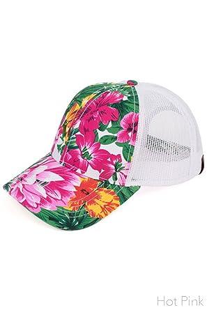 52a68240b ScarvesMe C.C Women's Floral Print Mesh Back Tucker Baseball Cap (BA ...