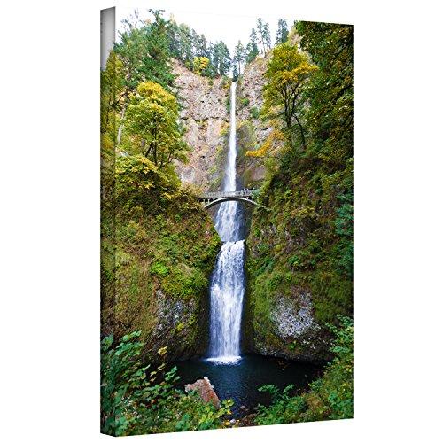 ArtWall Cody York Multnomah Falls Gallery-Wrapped Canvas Artwork, 24 by 36-Inch