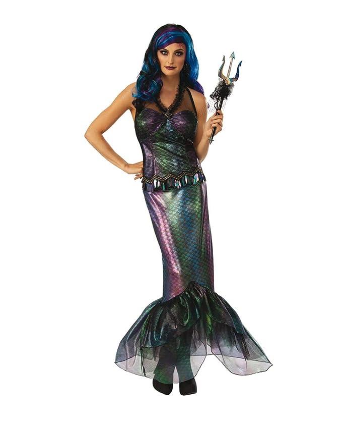 Horror-Shop Reina De Los Mares Oscuros Traje De Sirena M ...