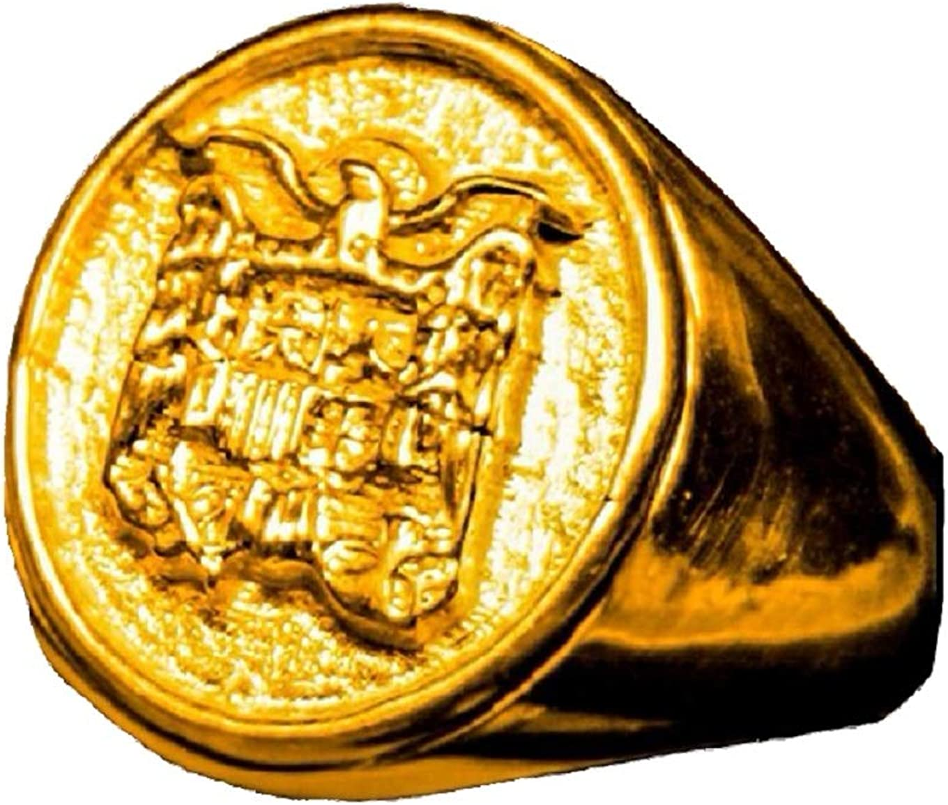 Double Eight Anillo Escudo ESPAÑA Aguila San Juan Oro 18 KILATES ...
