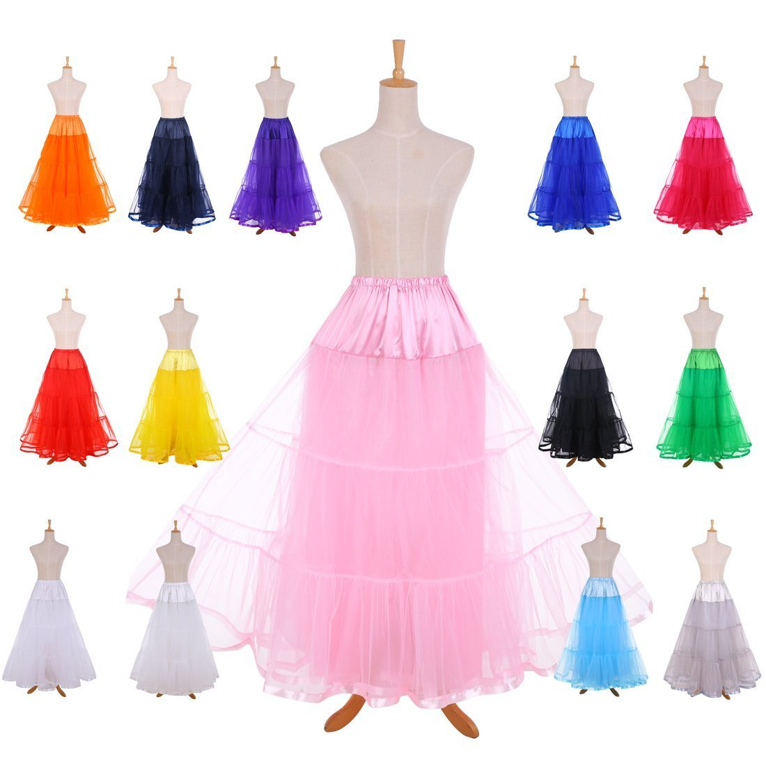 Crinoline Skirt | Crinoline Slips | Crinoline Petticoat Ankle Length Petticoats for Wedding Dress $18.99 AT vintagedancer.com