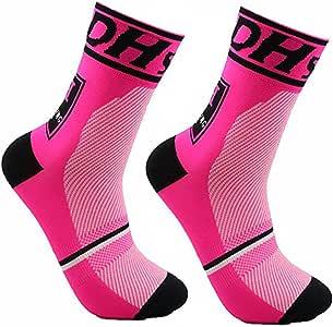 JIANYE Calcetines de Ciclismo para Compresión Hombres Mujer Deporte Ciclismo Calcetines 2 Pares Europa 42-45: Amazon.es: Deportes y aire libre