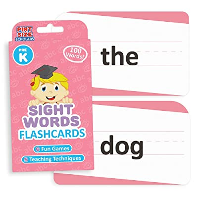 Sight Words Flashcards for Reading Readiness - Choose from 5 Grade Levels, 100 Words Each! by Pint-Size Scholars (Pre-K): Toys & Games