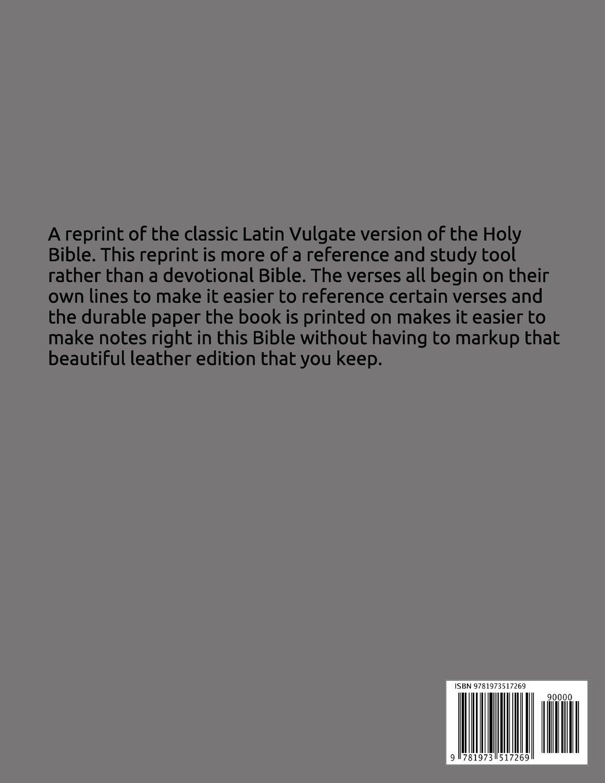 Holy Bible: Latin Vulgate Translation: Anonymous