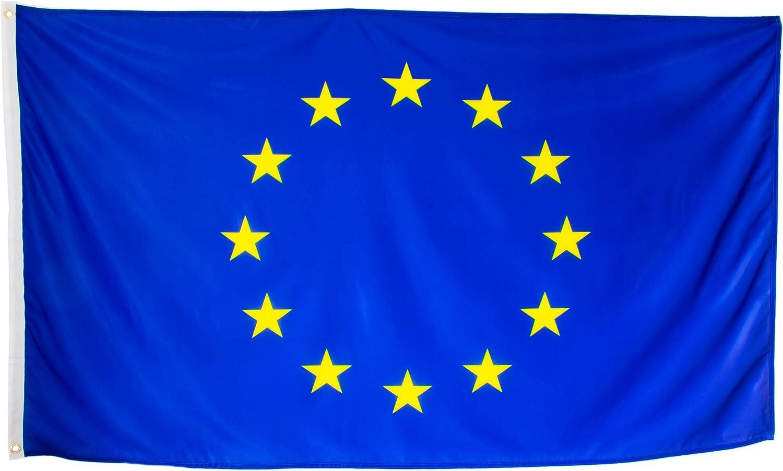 esvendio Bandera de Europa Grande de Tela Fuerte, Bandera Europea para Exterior 150x90 cm: Amazon.es: Jardín