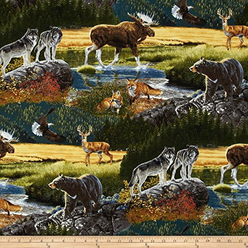 Kaufman Bringing Nature Home Mountain Wildlife Nature Fabric By The Yard