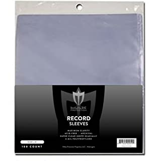 Bcw 1-rslv 33 Rpm Record Sleeves Crease-Resistance 100 Count