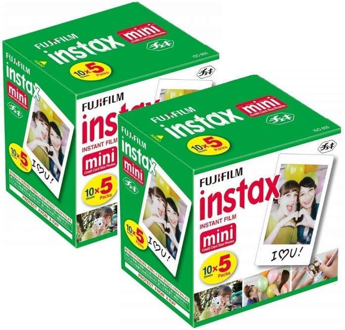 Fujifilm Instax Mini Instant Film, 10 Sheets of 5 Pack 2 (100 Sheets)