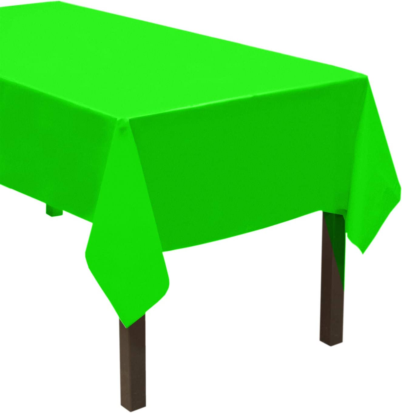 Party Essentials Heavy Duty Plastic Table Cover Available in 44 Colors, 54