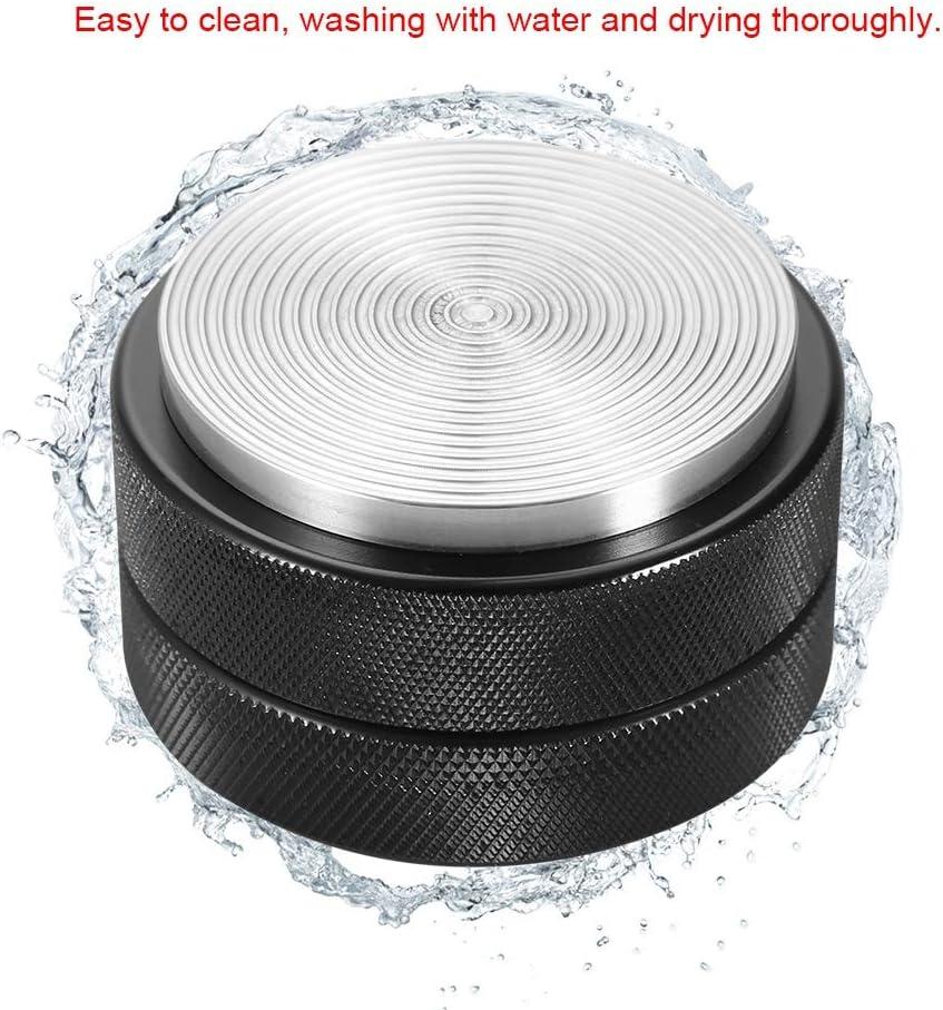 Thread Base Yuehuam Coffee Distributor /& Tamper 51mm Stainless Steel Coffee Tamper Base Coffee Bean Press Tool Black