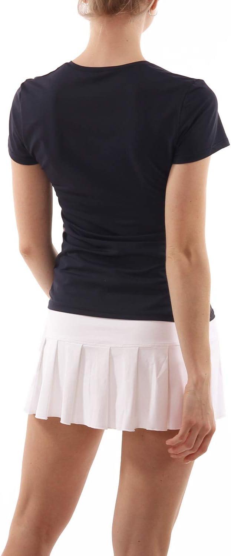 Navy blau Sportkind M/ädchen /& Damen Tennis Sport T-Shirt V-Ausschnitt 158 Gr Fitness