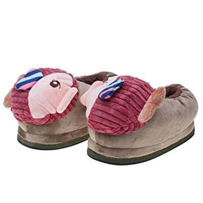Janeyer Cute Fish Stuffed Slippers Home Indoor Shoes Soft Warm Home Slippers