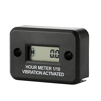 Digital Mower Hour Meter Hour Meter Wireless Vibration Triggered for Chain Saw Air Compressor Motocross Marine Motorcycle Snowmobil ATV Boat Generators Tractor Lawn Mower: Automotive [5Bkhe0401760]