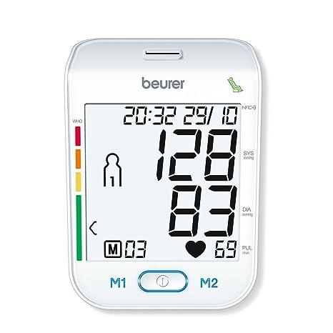 Tensiómetro de brazo BM 75 de Beurer, NFC para Smartphone, USB, vollautomatisch
