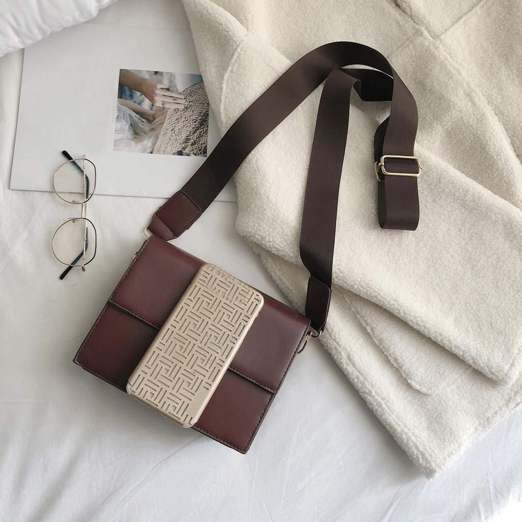 Stylish Women Small Square Bag Solid Buckle Wild Shoulder Strap Messenger Bag Casual Daypack Rucksack Black