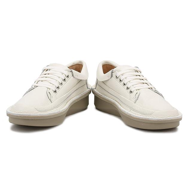 Clarks Hommes Blanc Cuir Oswyn Lo Chaussures-UK 6 W52QcZGOO
