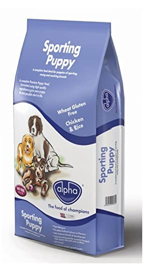 Alpha Sporting Puppy Complete Dry Dog Food Chicken And Rice 15 Kg