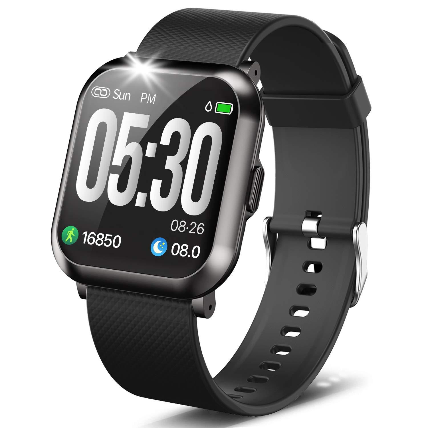 Touch Screen Smartwatch with Heart Rate Blood Pressure Monitor