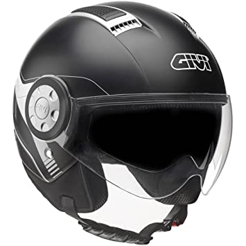 GIVI H111BN90054 Hps 11.1 Air Deni Jet Casco, Color Negro Mate, Talla 54/