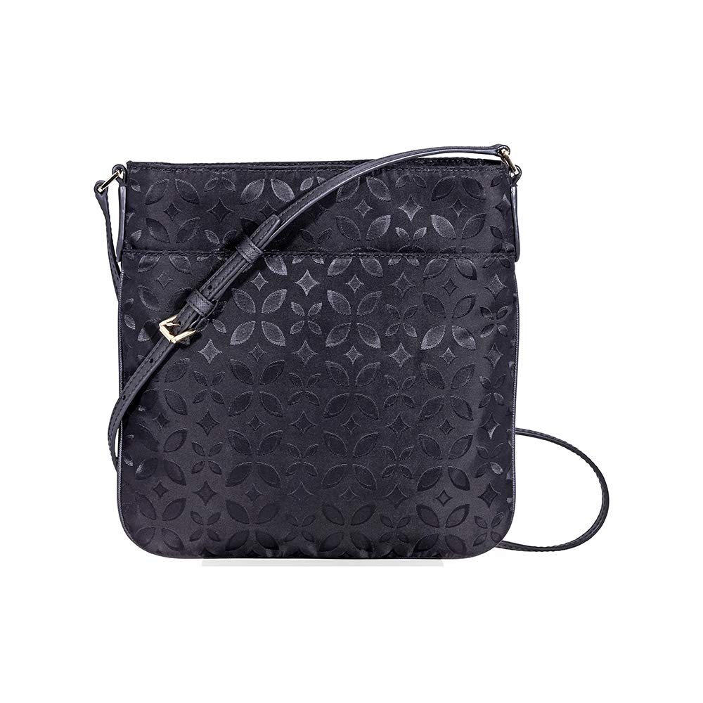 16c38bd01b0cf5 Michael Kors Large Kelsey Black Nylon Floral Printed Jacquard Cross-Body Bag  Multi Fabric: Amazon.co.uk: Shoes & Bags
