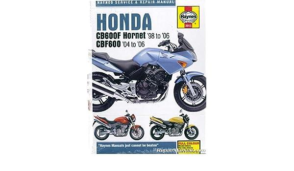 honda cb600 f hornet service repair manual 2004 2006