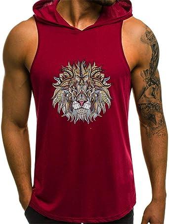 Koolee Mens Workout Hooded Tank Tops Bodybuilding Muscle Cut Off T Shirt Sleeveless Gym Hoodies