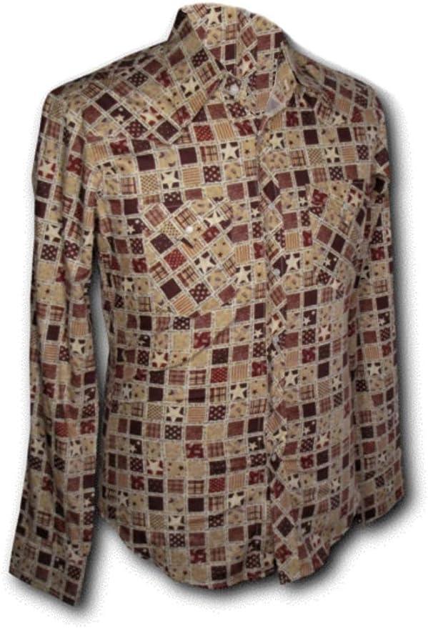 Chenaski 70s Retro Camisa Cowboy Patchwork Rojo, 70s: Amazon.es: Ropa y accesorios