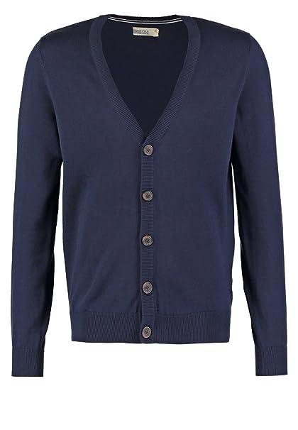Pier One Cardigan Herren Grau, Blau o. Schwarz — 100% Baumwolle — Strickjacke mit Knöpfen & V Ausschnitt, Sweatjacke dünn in elegant